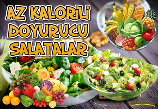 Az Kalorili Doyurucu Salatalar